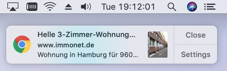 Benachrichtigungen bei Immonet.de