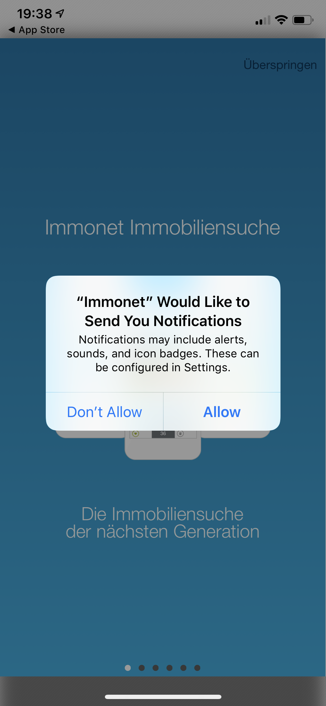App Opt-In Immonet.de