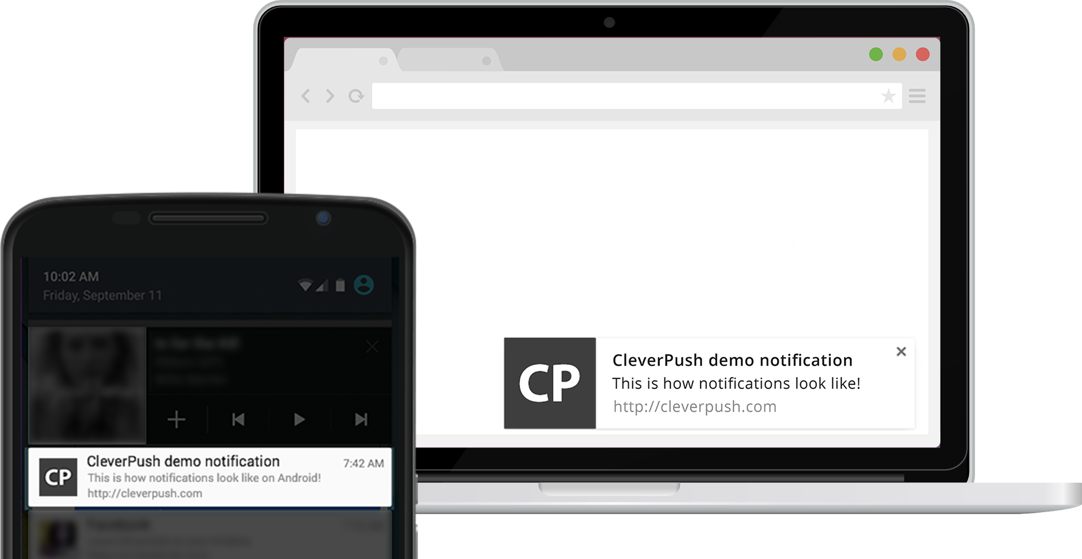Push notifications in Google Chrome